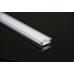 Χωνευτό προφίλ αλουμινίου ματ για ταινία LED 2,00μ.