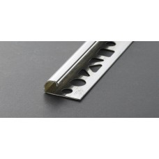 Proround προφίλ πλακιδίων στρογγυλεμένο, ανοξείδωτο ατσάλι 10mm 2,5m