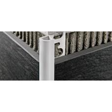 Προφίλ πλακιδίων στρογγυλεμένο, χρωματιστό πλαστικό 8mm manhattan grey 2,5m